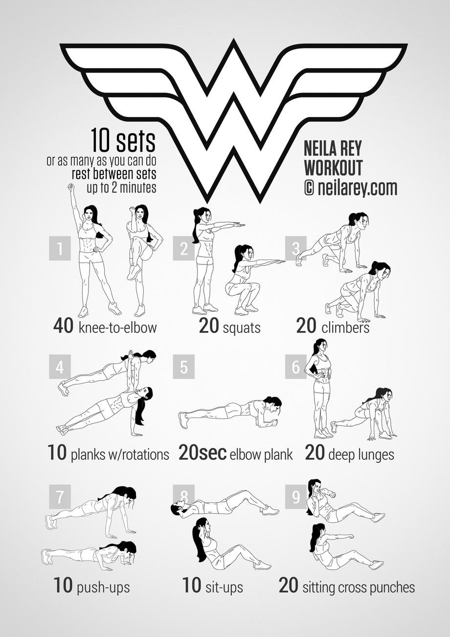 Wonder Woman Workout – Nerd Athletics